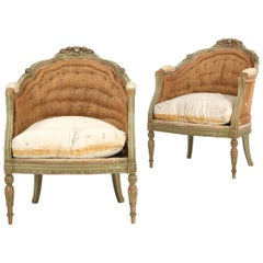 Pair of Painted Gustavian Style Armchairs, Sweden