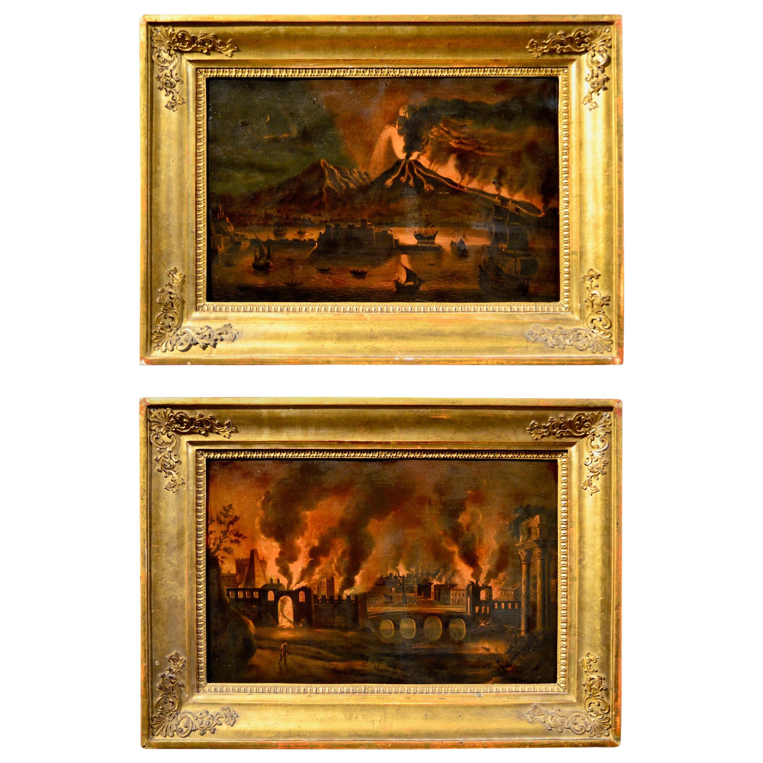 Pair of Paintings, Oil on Copper