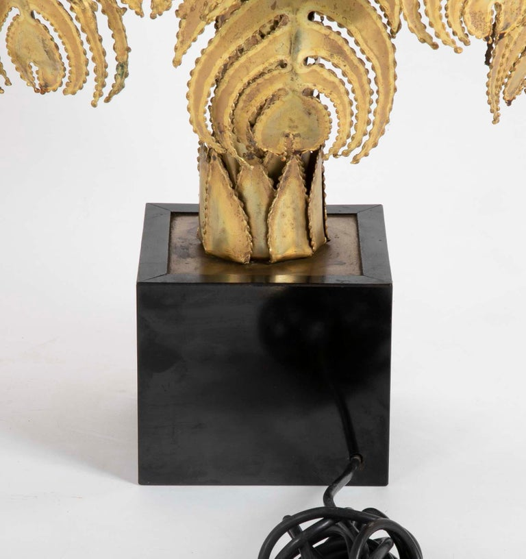 Pair of Palm Tree Form Lamps by Christian Techoueyres for Maison Jansen For Sale 3
