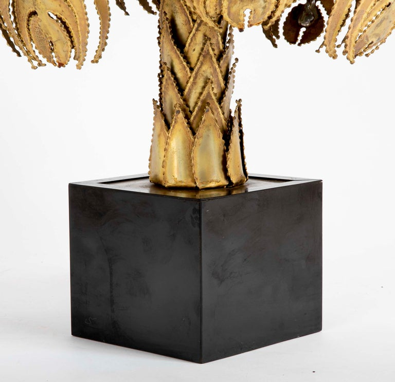 French Pair of Palm Tree Form Lamps by Christian Techoueyres for Maison Jansen For Sale