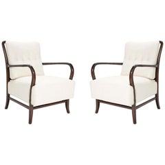 Pair of Paolo Buffa Style Walnut Armchair
