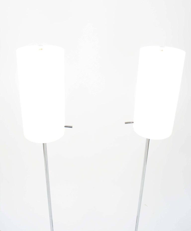Chrome Pair of Paul Mayen Floor Lamps for Habitat International For Sale