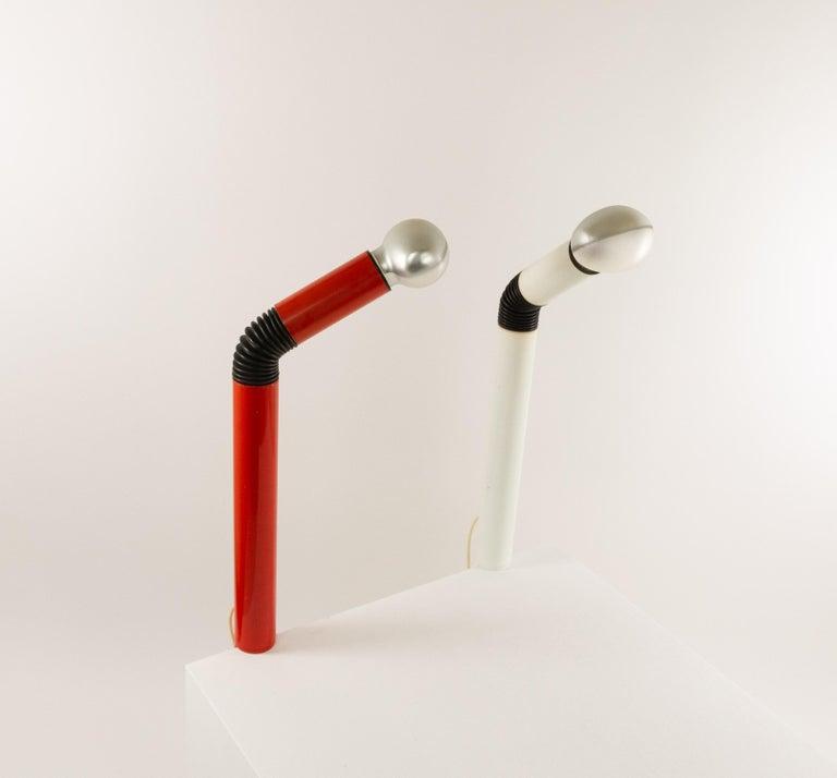 Mid-Century Modern Pair of Periscopio Table Lamps by Danilo & Corrado Aroldi for Stilnovo, 1967 For Sale
