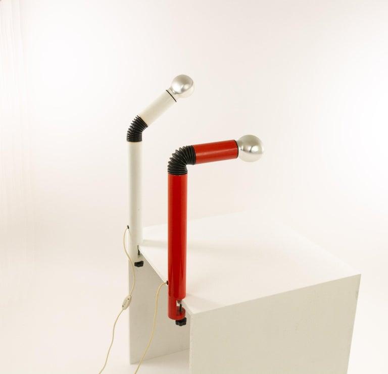 Italian Pair of Periscopio Table Lamps by Danilo & Corrado Aroldi for Stilnovo, 1967 For Sale