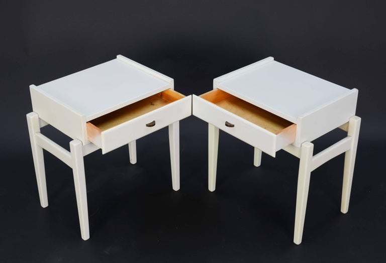 Scandinavian Modern Pair of Peter Lovig Nielsen Nightstands For Sale