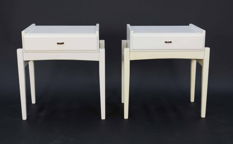 Pair of Peter Lovig Nielsen Nightstands In Good Condition For Sale In Portland, OR
