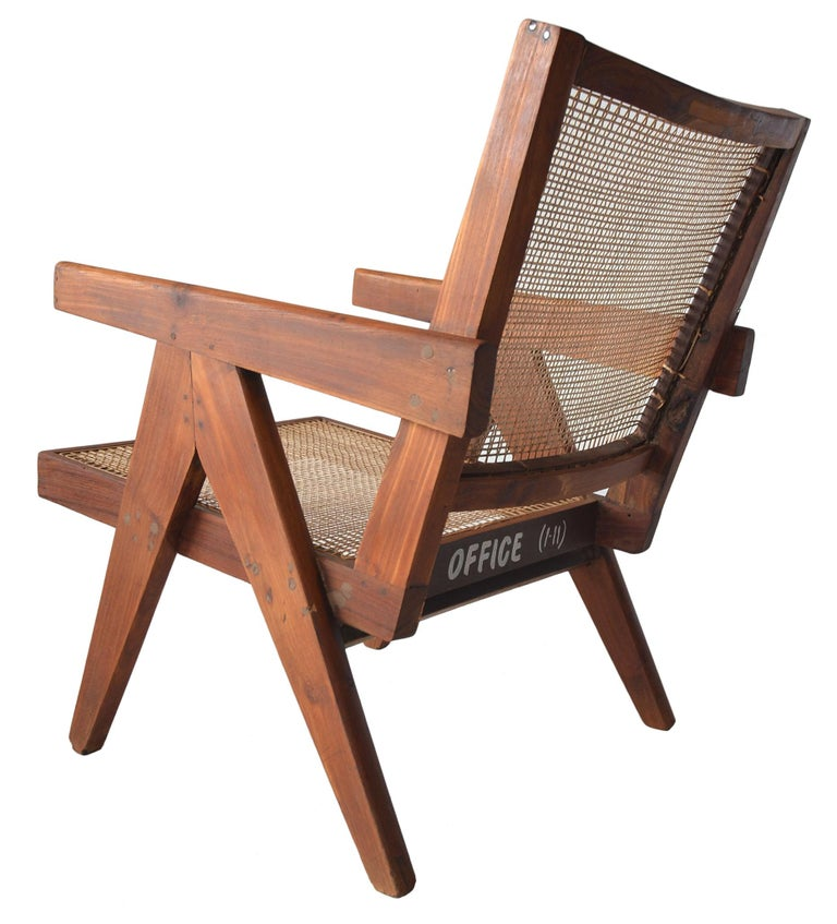 Rosewood Pair of Pierre Jeanneret Low Chairs For Sale