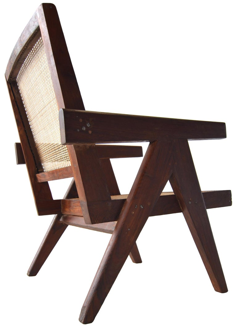 Pair of Pierre Jeanneret Low Chairs For Sale 2