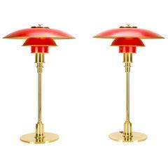 Pair of Poul Henningsen PH 3/2 Anniversary Model Table Lamps, Denmark
