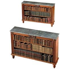 Pair of Regency Open Bookshelves