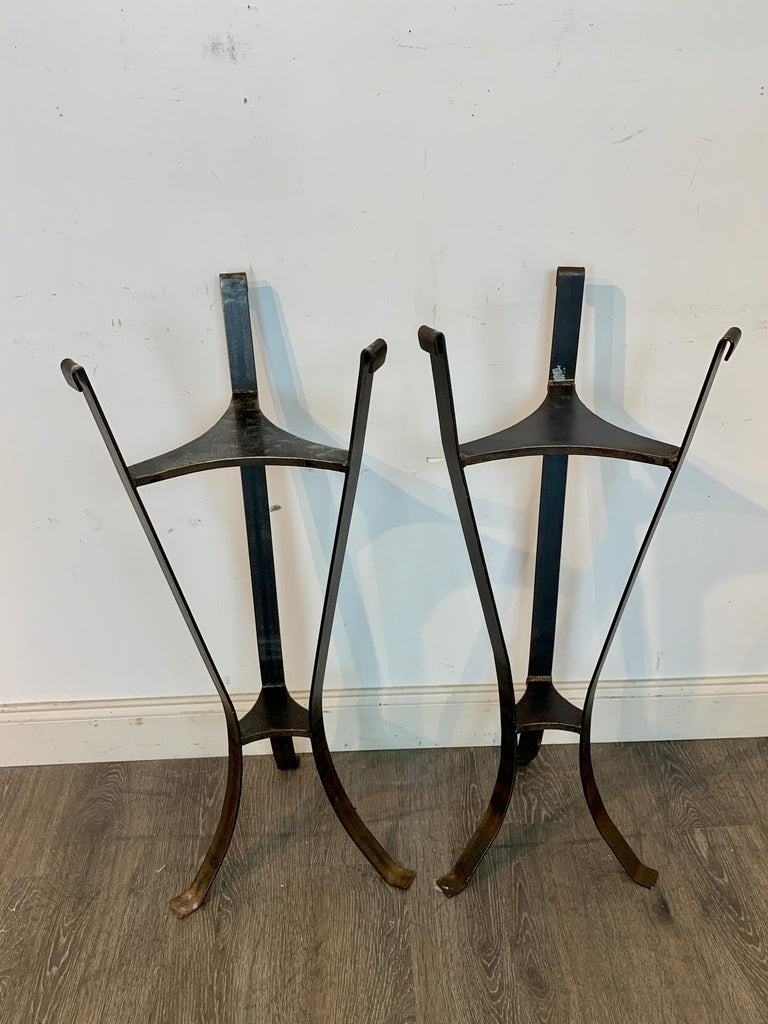 Pair of Rock Crystal and Iron Pedestals For Sale 4