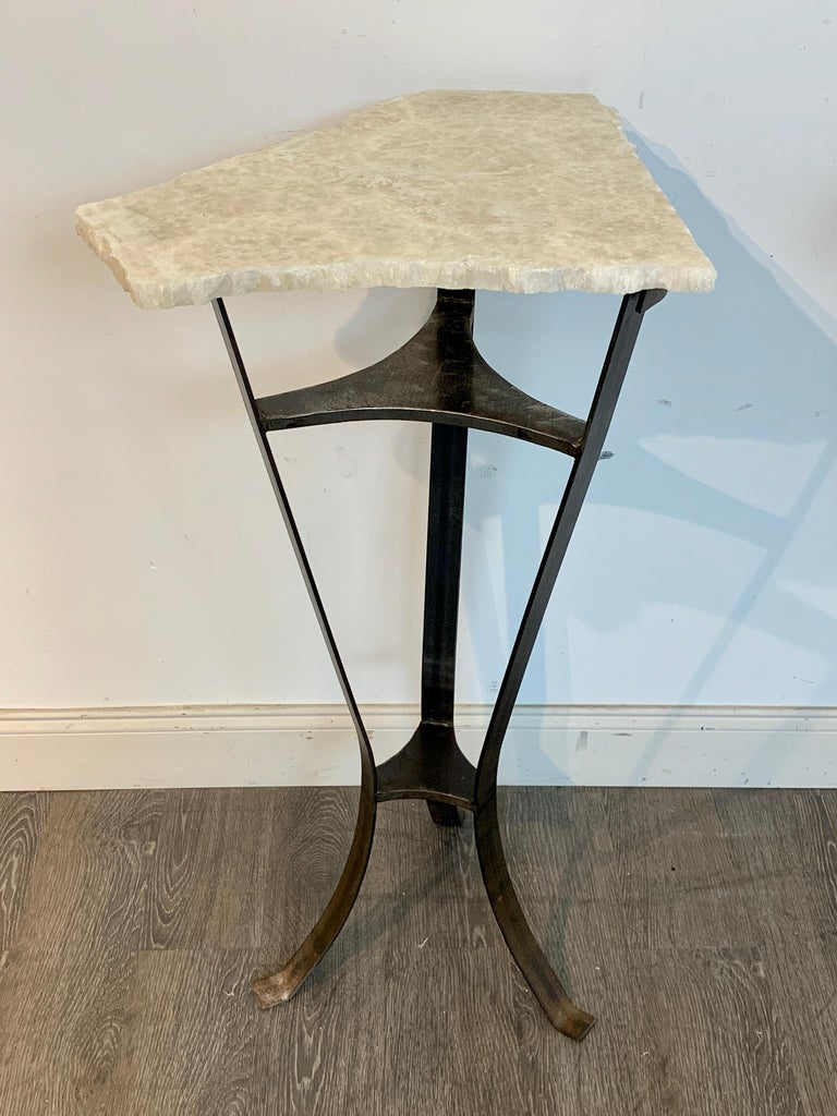 Pair of Rock Crystal and Iron Pedestals For Sale 2