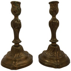 Pair of Rococo Candlesticks, 18th Century