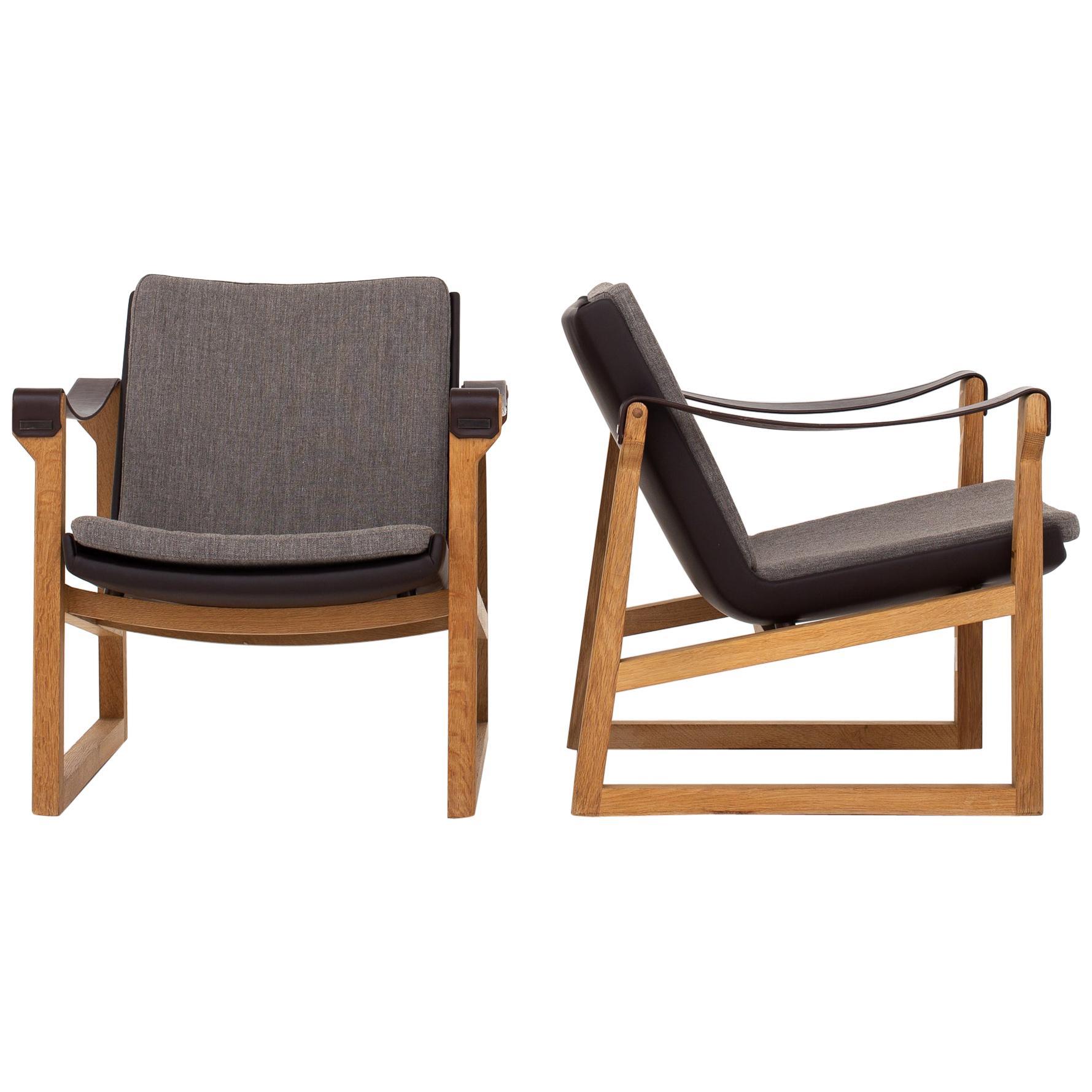 Pair of Safari Chairs by Karen & Erik Clemmesen
