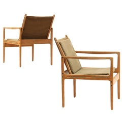 Pair of Safari Chairs by Ole Wanscher