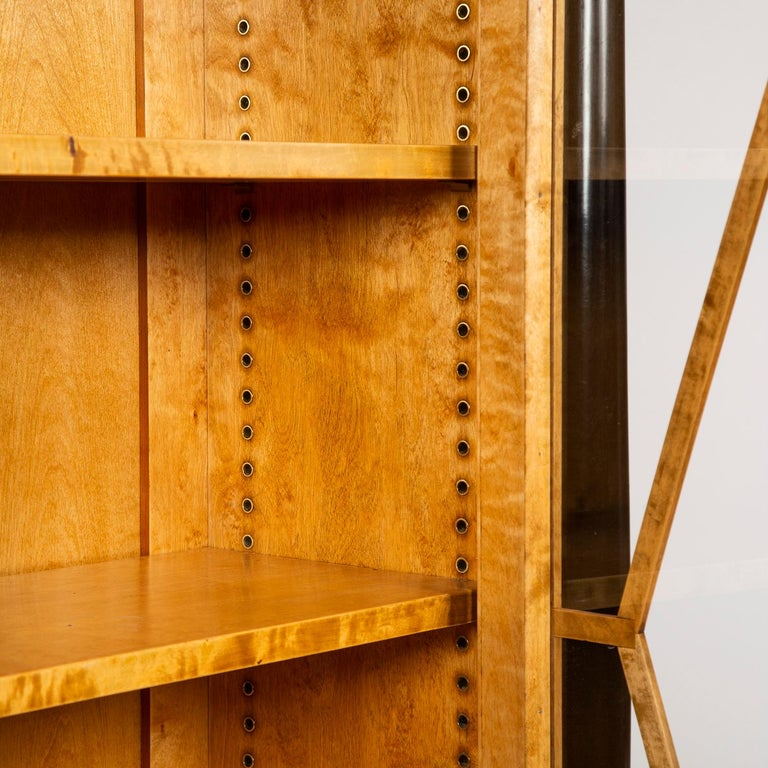 Pair of Satin Birch Bookcases For Sale 5