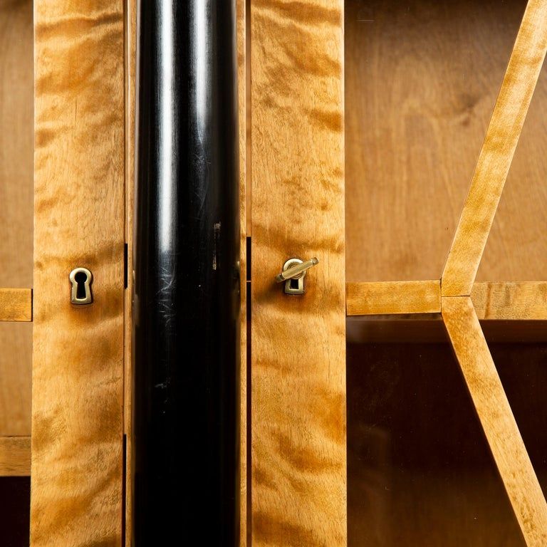 Pair of Satin Birch Bookcases For Sale 2