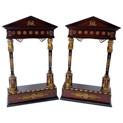 Pair of Second Empire Caryatid Wall Ormolu Mounted Wall Shelves