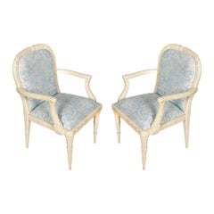 Pair of Serge Roche Armchairs in China Seas Fabric