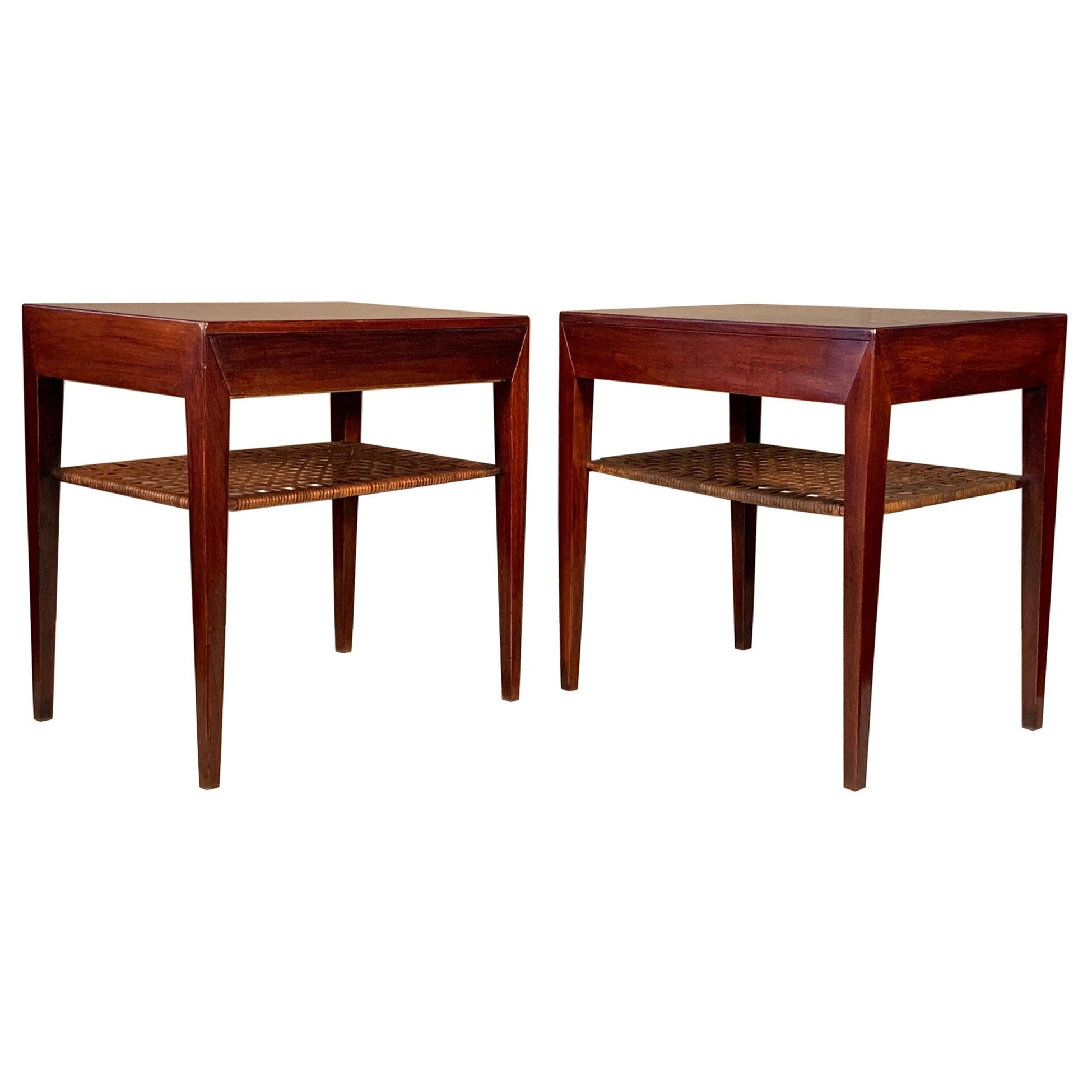 Pair of Severin Hansen for Haslev Nightstands
