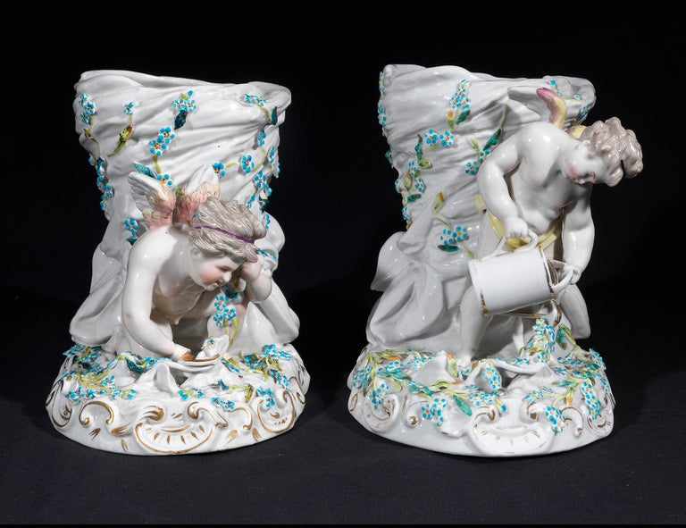 French Pair of Sèvres Style Jardinières, circa 1860 For Sale