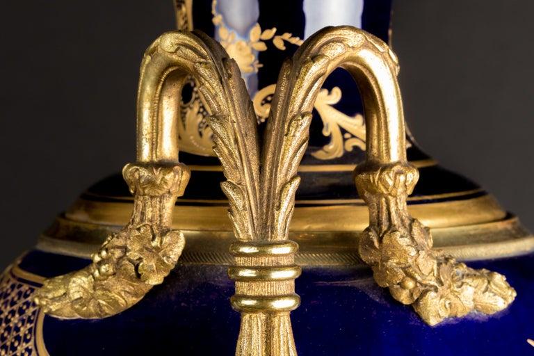 Napoleon III Pair of Sèvres Vases, circa 1880 For Sale