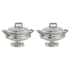 Pair of Silver Sauce-Boats
