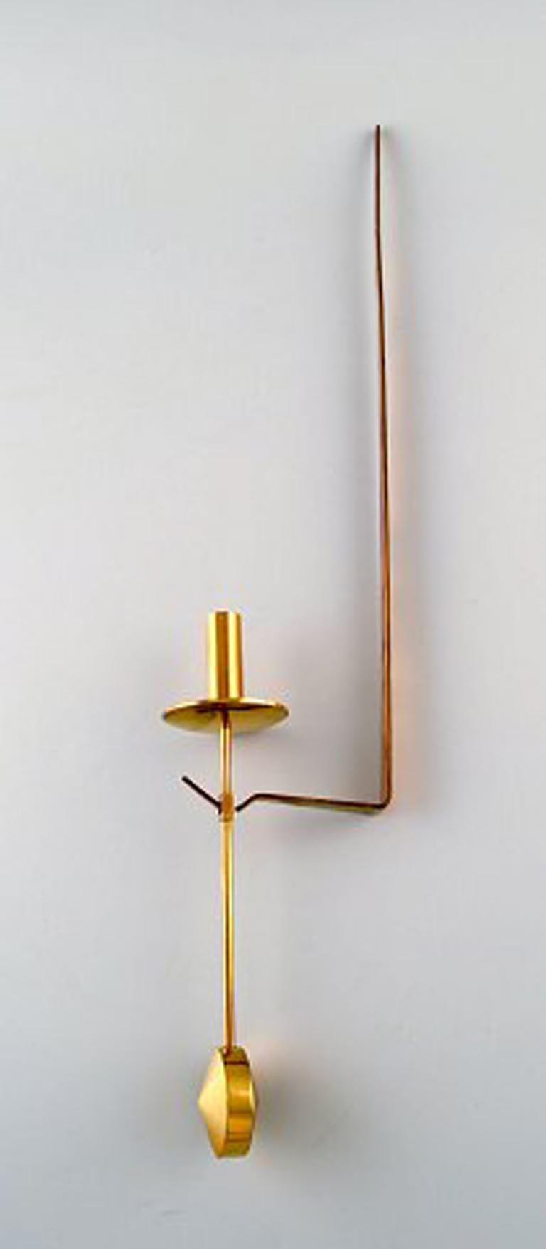 Scandinavian Modern Pair of Skultuna, Sweden, Brass Candlesticks, Model 1607 For Sale
