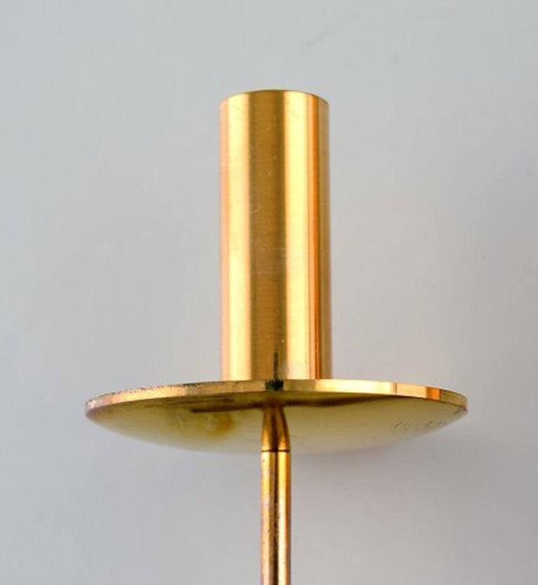 Pair of Skultuna, Sweden, Brass Candlesticks, Model 1607 In Excellent Condition For Sale In Copenhagen, Denmark