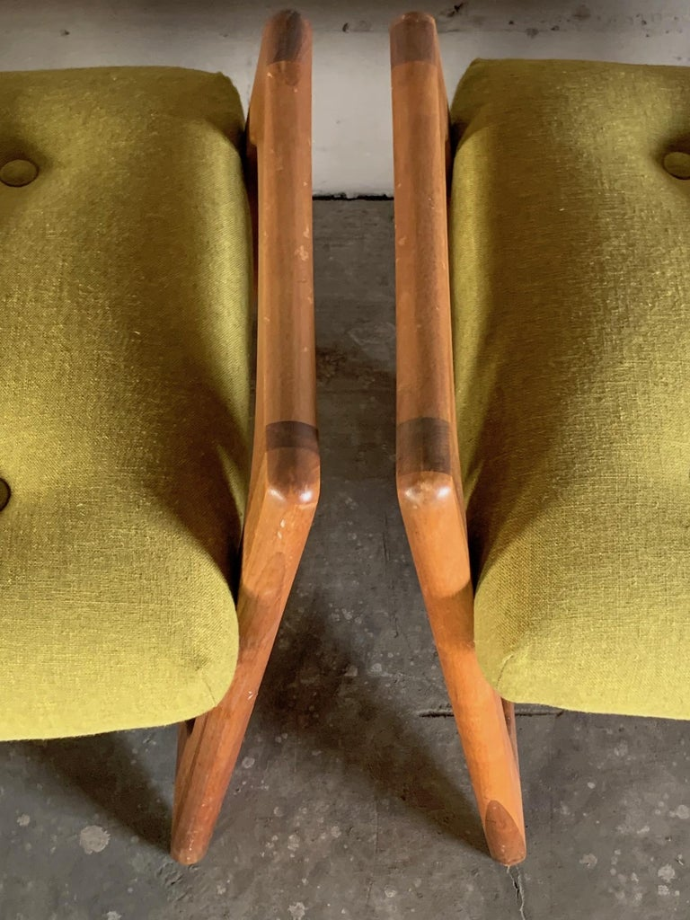 Pair of Stingray Ottomans by Adrian Persall For Sale 3