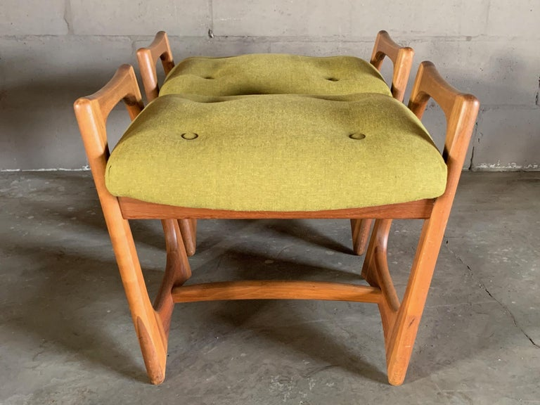 Pair of Stingray Ottomans by Adrian Persall In Good Condition For Sale In St.Petersburg, FL