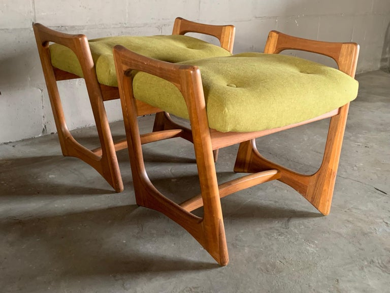 Mid-20th Century Pair of Stingray Ottomans by Adrian Persall For Sale