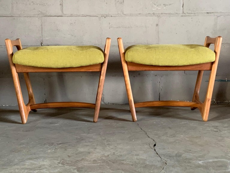 Pair of Stingray Ottomans by Adrian Persall For Sale 1