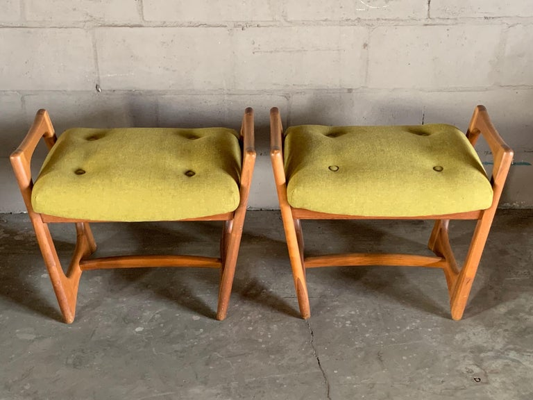 Pair of Stingray Ottomans by Adrian Persall For Sale 2