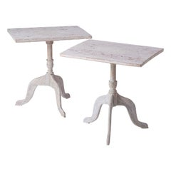 Pair of Swedish Candle Stand Tables, circa 1820