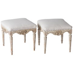 Pair of Swedish Gustavian Period Footstools, circa 1780