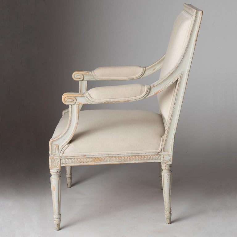 Pair of Swedish Late Gustavian Period Stockholm Armchairs, circa 1800 In Good Condition For Sale In New Preston, CT