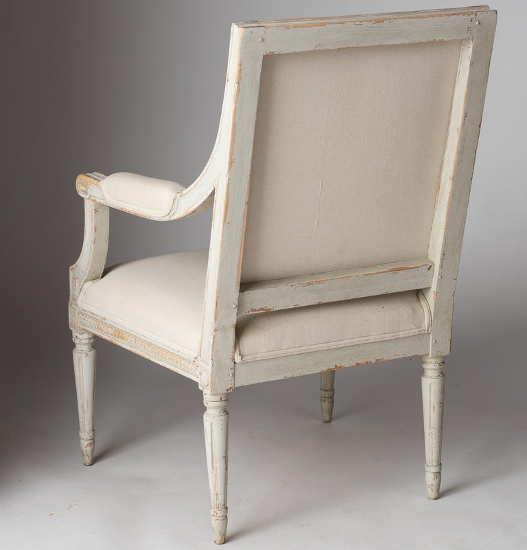 19th Century Pair of Swedish Late Gustavian Period Stockholm Armchairs, circa 1800 For Sale