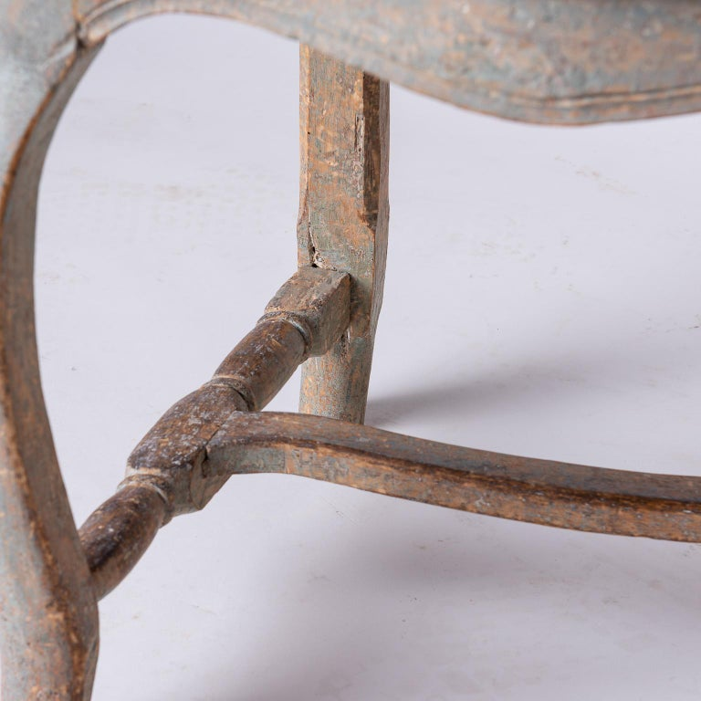 18th Century and Earlier Pair of Swedish Rococo Period Side Chairs, circa 1760 For Sale