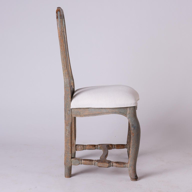 Pair of Swedish Rococo Period Side Chairs, circa 1760 For Sale 2
