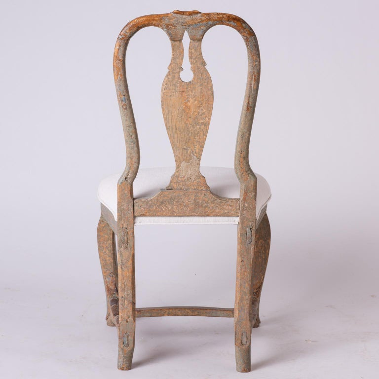 Pair of Swedish Rococo Period Side Chairs, circa 1760 For Sale 3