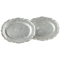 Pair of Swedish Rococo Pewter Serving Dishes