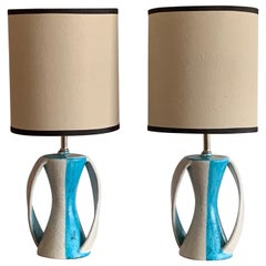 Pair of Table Lamps by Guido Gambone