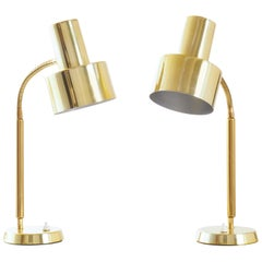 Pair of Table Lamps in Brass by Boréns, Sweden