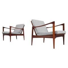 "Pair of Teak ""Kandidaten"" (Candidate) Chairs by Ib Kofod-Larsen, 1960s"