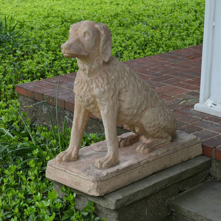 Pair of Terracotta Spaniels For Sale 4