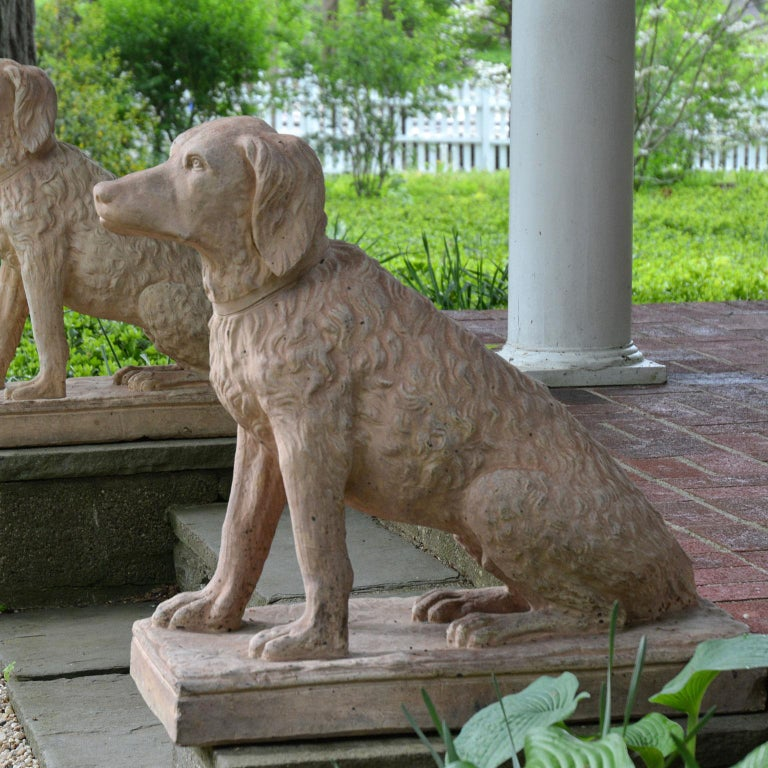 Pair of Terracotta Spaniels For Sale 6