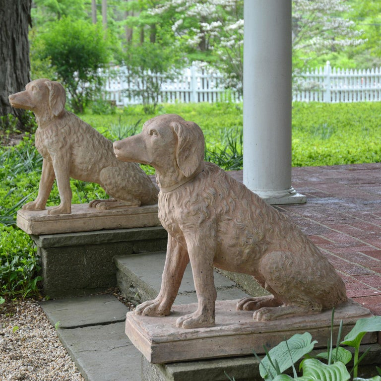Pair of Terracotta Spaniels For Sale 7