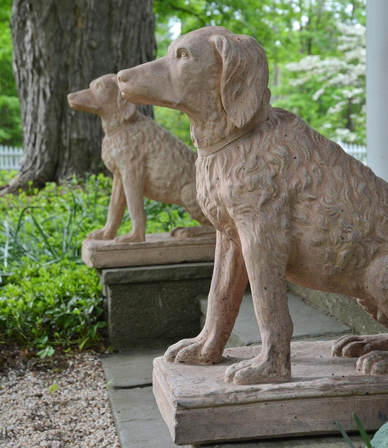 Pair of Terracotta Spaniels For Sale 2