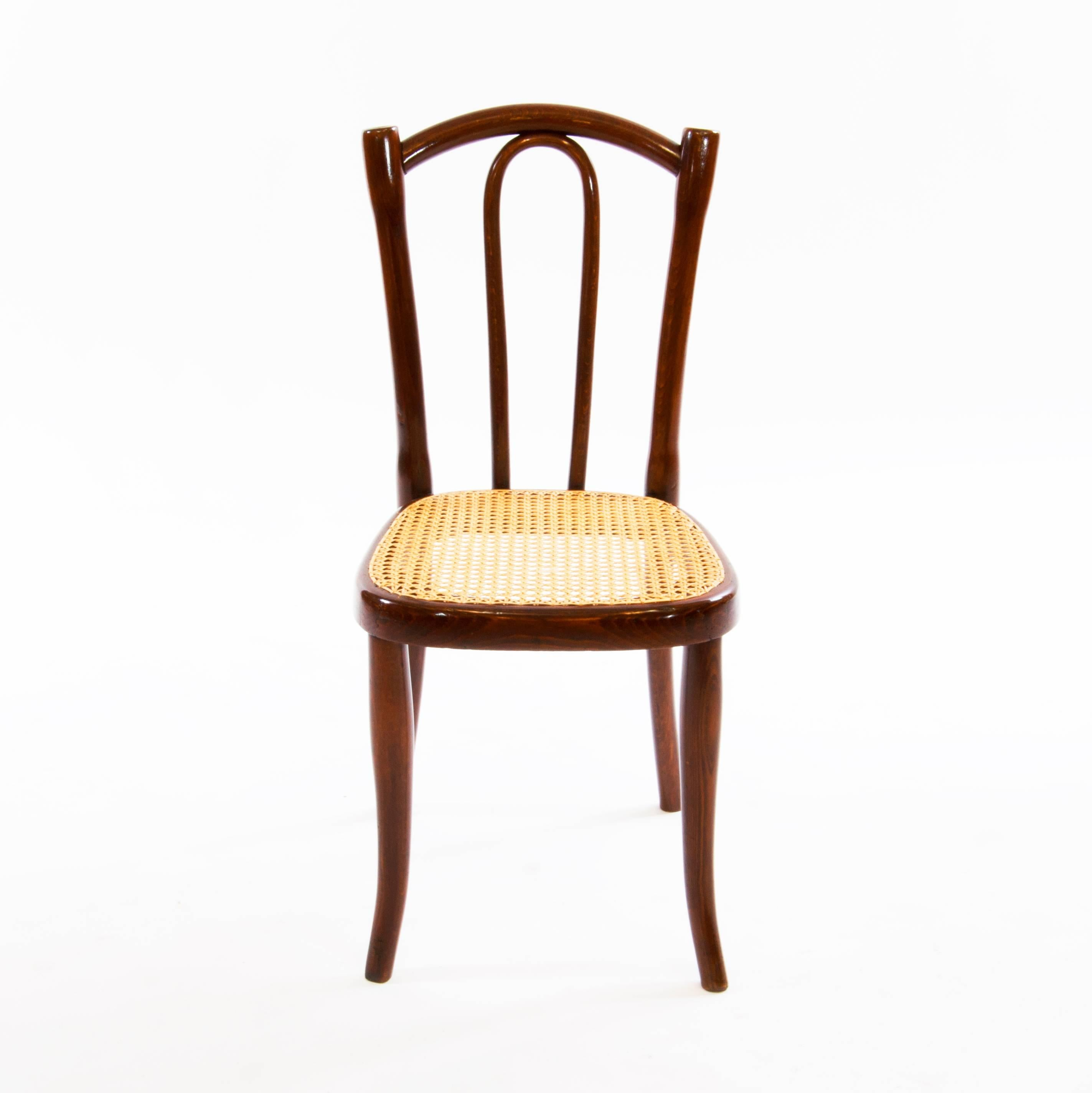 Very Rare And Antique Thonet Children Bentwood Chairs No. 2, Which Were  Produced Between